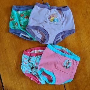 4 Pairs Disney Training Underwear 4T